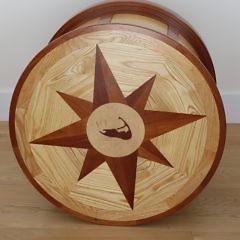 Peter Culbertson Custom Built Round Drum Shaped Nantucket Island Table