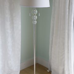 Pair of Contemporary Five-Glass Ball Table Lamps, Together with a Matching Floor Lamp