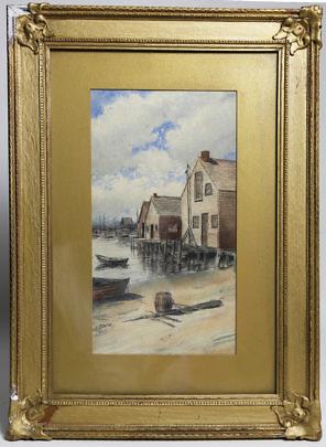 14-4848 James Barker Watercolor Old North Wharf A_MG_7942