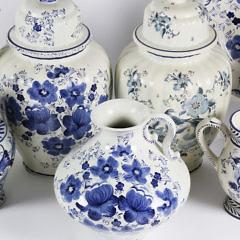 Collection of Eleven Delft Ceramic Vessels