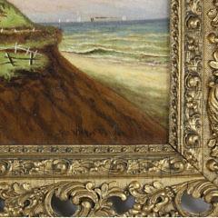 "James Walter Folger Oil on Canvas ""Sankaty Light"", 19th Century"