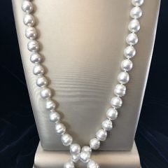 11 mm – 14.5 mm White Baroque South Sea Pearl Opera Length Necklace