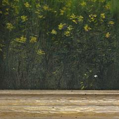 "James Francis Barker Oil on Canvas ""Hidden Forest Polpis Harbor"""