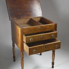American Tiger Maple Work Stand, circa 1820-1840