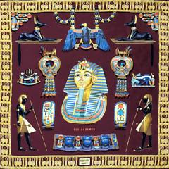 39525 Hermes Tutankhamun Silk Scarf AIMG_3324