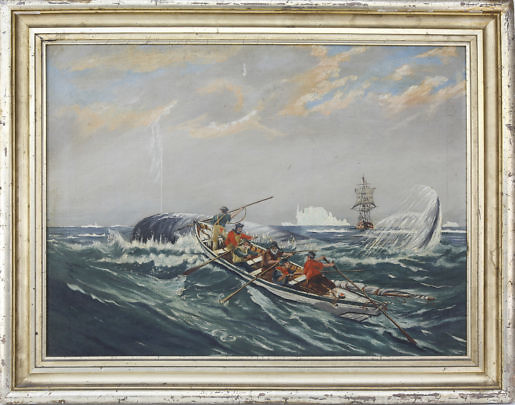 4-4807 Arctic Whaling Scene Oil A_MG_8584