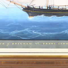 "Nicola Fondo Gouache and Ink on Paper ""Wave of Brixham Wm Penny Commander"", 1855"