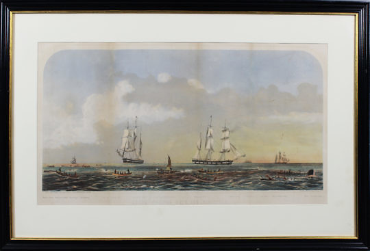 41154 Benjamin Russel Sperm Whaling Litho A IMG_7639