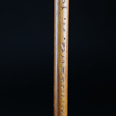 Ralph Buckwalter Folk Art Carved and Painted Right Whale Cane, circa 1986