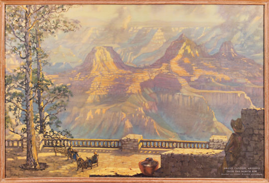 41214 Raymond Henry Grand Canyon Litho A IMG_7630
