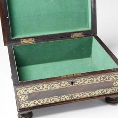 Regency Rosewood and Inlaid Filigree Brass, circa 1840