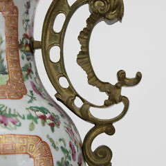 Pair of Ormolu Mounted  Chinese Export Famille Rose Vases, circa 1840