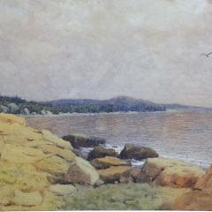 "Hugh Hunting Howard Watercolor on Paper ""Rocky Shoreline"""