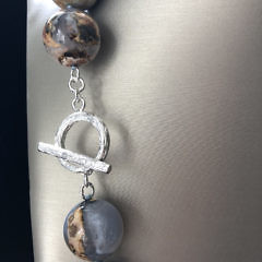 20mm Polished Chalcedony Bead Necklace
