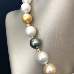 16mm – 12.5mm South Sea Pearl Lariat Necklace