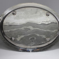 Sheffield Silver Plated Serving Tray, 19th Century,