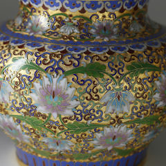 Pair of Chinese Cloisonné Covered Jars
