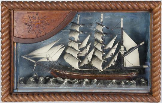 60-4817 Folk Art Ship Shadowbox A_MG_8581