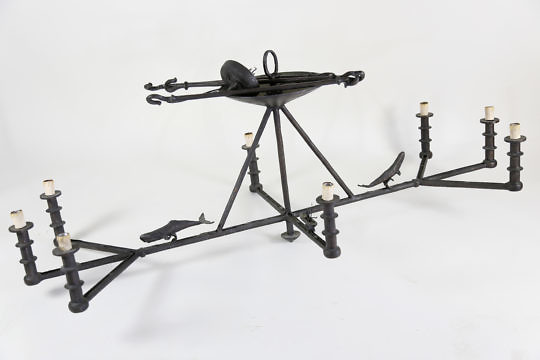 1-4781 Bronze Whaling chandelier A_9814 2