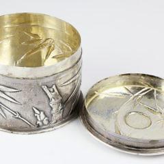 Chinese Export Silver Box, circa 1925