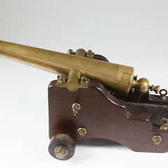 L.T. Snow Brass Yacht Signal Saluting Cannon, circa 1895