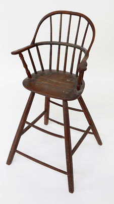 17-4147 Nantucket Red Stained Childs High Chair A_0006