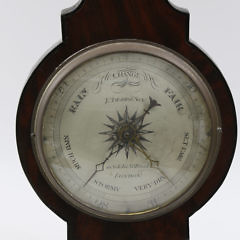 F. Amadio & Son English Mahogany Banjo Barometer