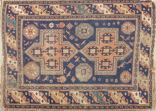 2254-955 Tribal Kazak Scatter Rug A