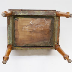 American Tiger and Bird's Eye Maple Two Drawer Work Stand, circa 1825