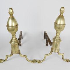 2267-955 Acorn Brass Andirons A_MG_9943