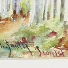 "Lillian Gertrude Smith Nantucket Watercolor on Paper ""Broadway, Sconset"""