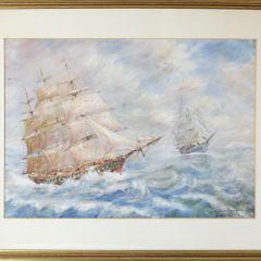 2310-955 Lillian Gertrude Smith Ships in High Seas A_9801