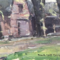 "Frank Swift Chase Oil on Canvas Board ""New England Farm Landscape"""