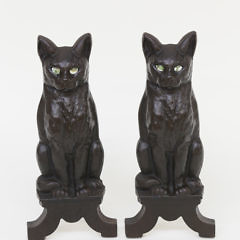 32334 Pair Iron Cat Andirons A_MG_9869 2