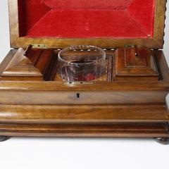 Walnut Molded Tea Caddy, circa 1840
