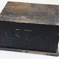 United States Life Saving Service Shot Line Faking Box, 19th Century