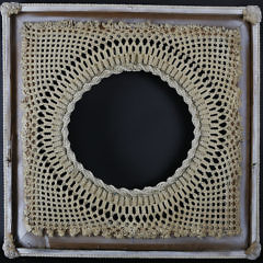 Finely Crafted Sailor Macramé Frame, 20th Century