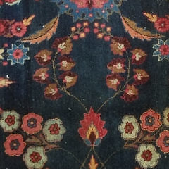Persian Hand Knotted Meshad Carpet with Signature, Eastern Iran, circa 1920
