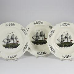42-4617 Five Pearlware Ship Plates A_MG_9362