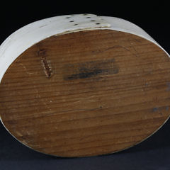 Whaleman Made Panbone and Pine Open Ditty Box, circa 1850