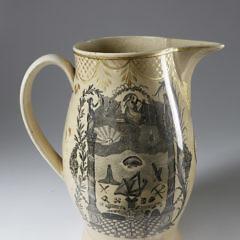 English Liverpool Jug of an American Clipper, circa 1800