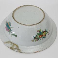 Chinese Export Rose Mandarin Wash Basin, circa 1830-1840