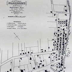 Scarce 1888 Map of The Village of Siasconset on The Island of Nantucket, Mass