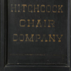 Hitchcock Chair Company Hitchcocksville, Connecticut Factory Sign