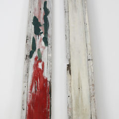 """Pair of """"Wm S. White"""" Carved And Painted Trailboards, 19th Century"""