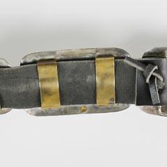 "Benson Boyd Zuni Multi-Stone Inlaid ""Story Teller"" Sterling Silver Concho Belt"