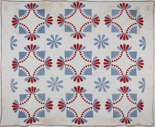 41336 Red White Blue 19th c Quilt A_MG_1606