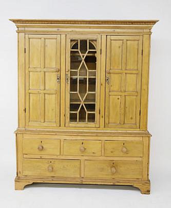 1-4431 Irish Pine Breakfront Cabinet A_MG_2458