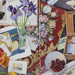 """Susan Abbot Watercolor on Paper """"Palimpsest"""""""
