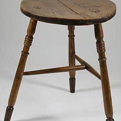 19th Century English Elm Cricket Table